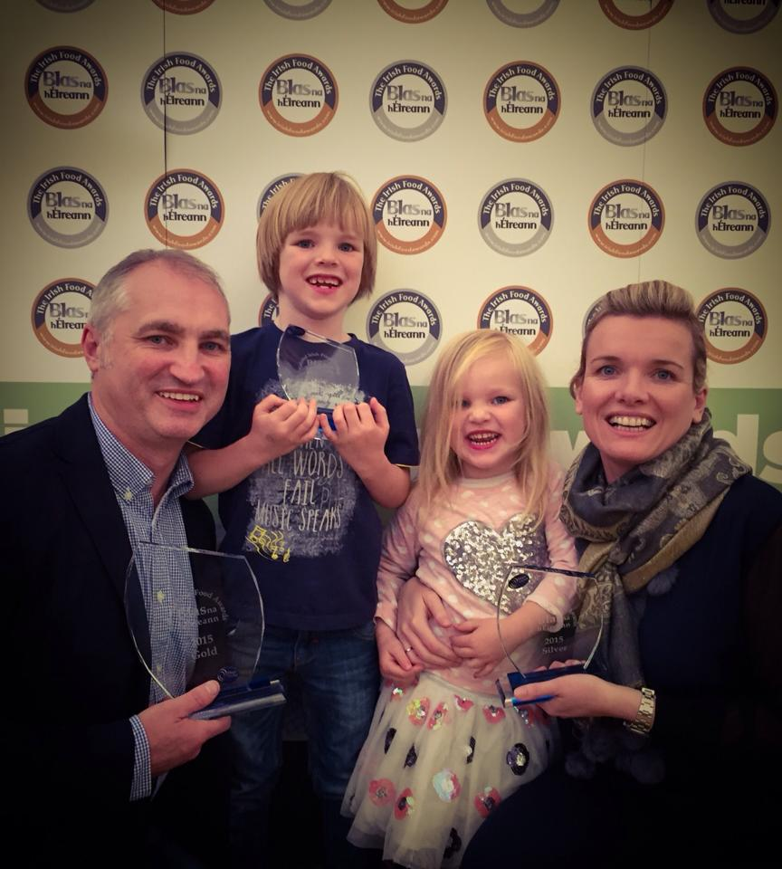 Irene and her beautiful family at the recent Awards ceremony.x