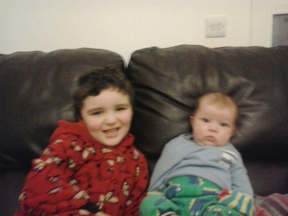 Conor and grumpy baby Jack
