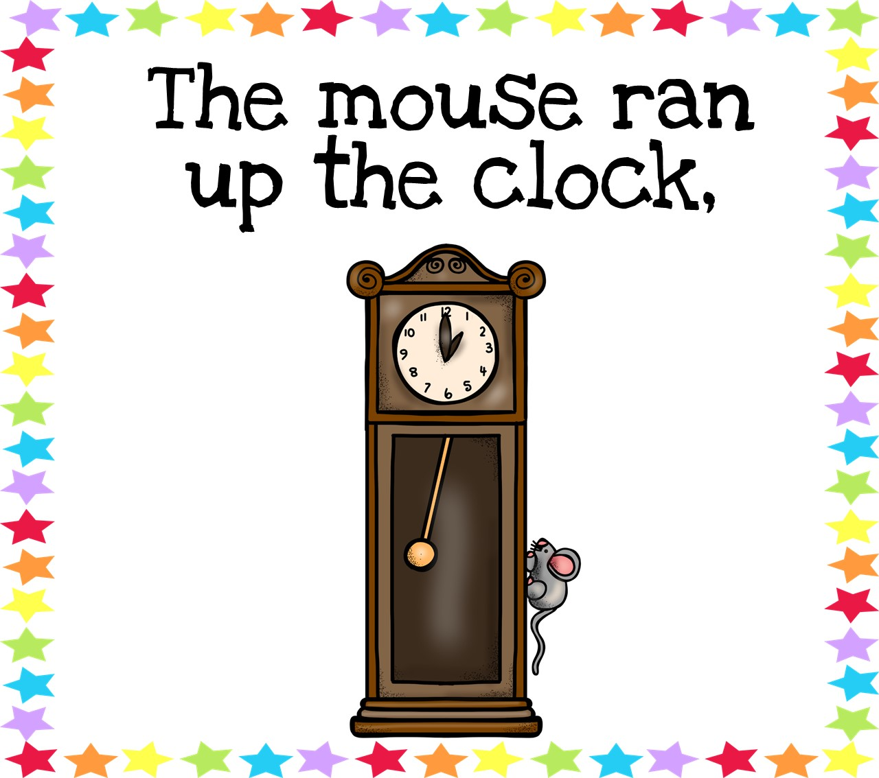 Hickory Dickory Dock Printable The Little Puddins Blog