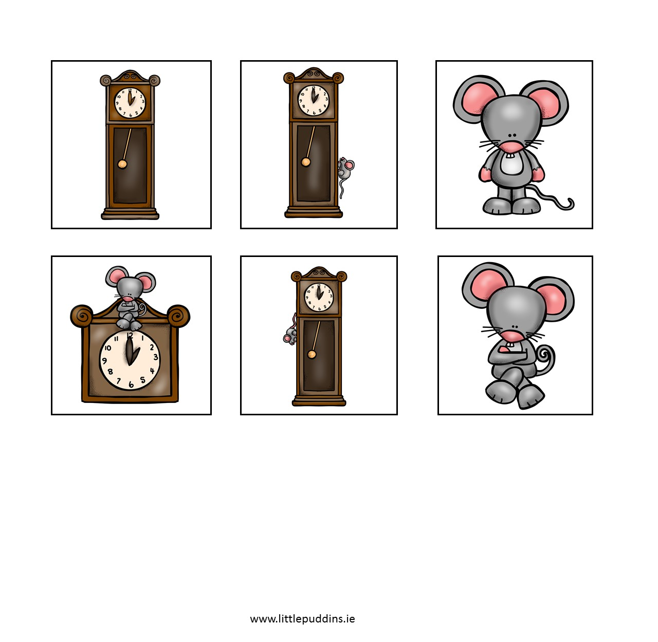 Hickory Dickory Dock Printable – The Little Puddins Blog.