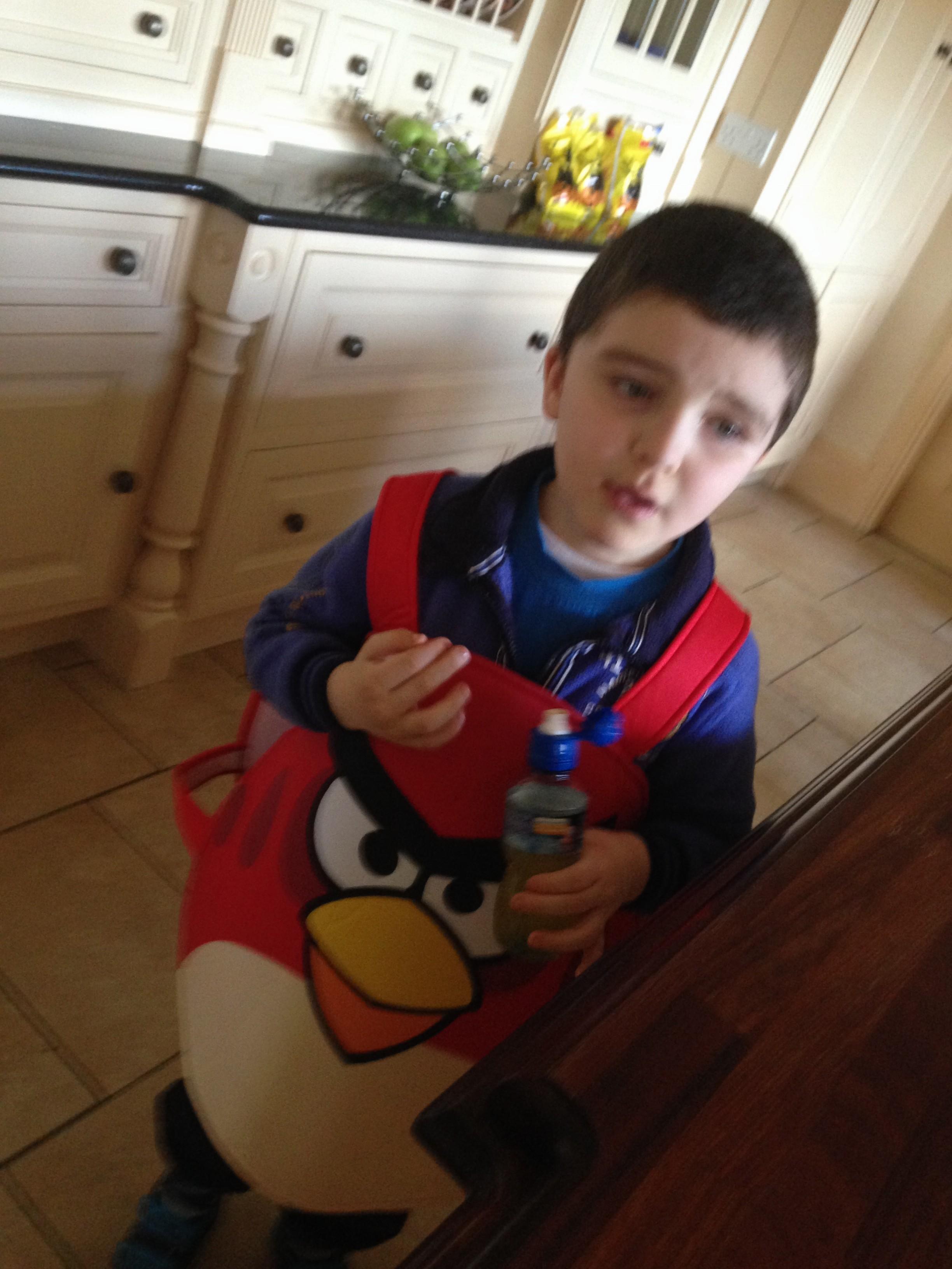 Conor as an Angry Bird