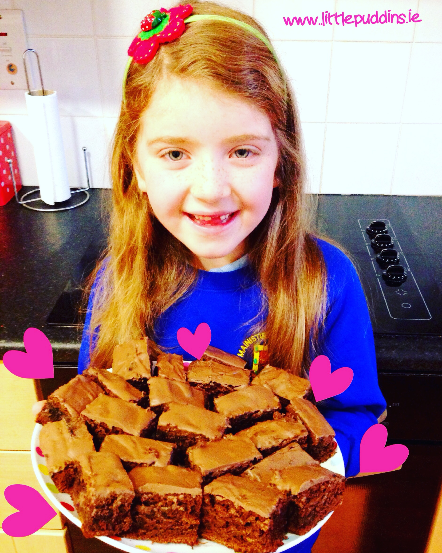 Baker Hailey delighted with her Chocolate Brownies.x
