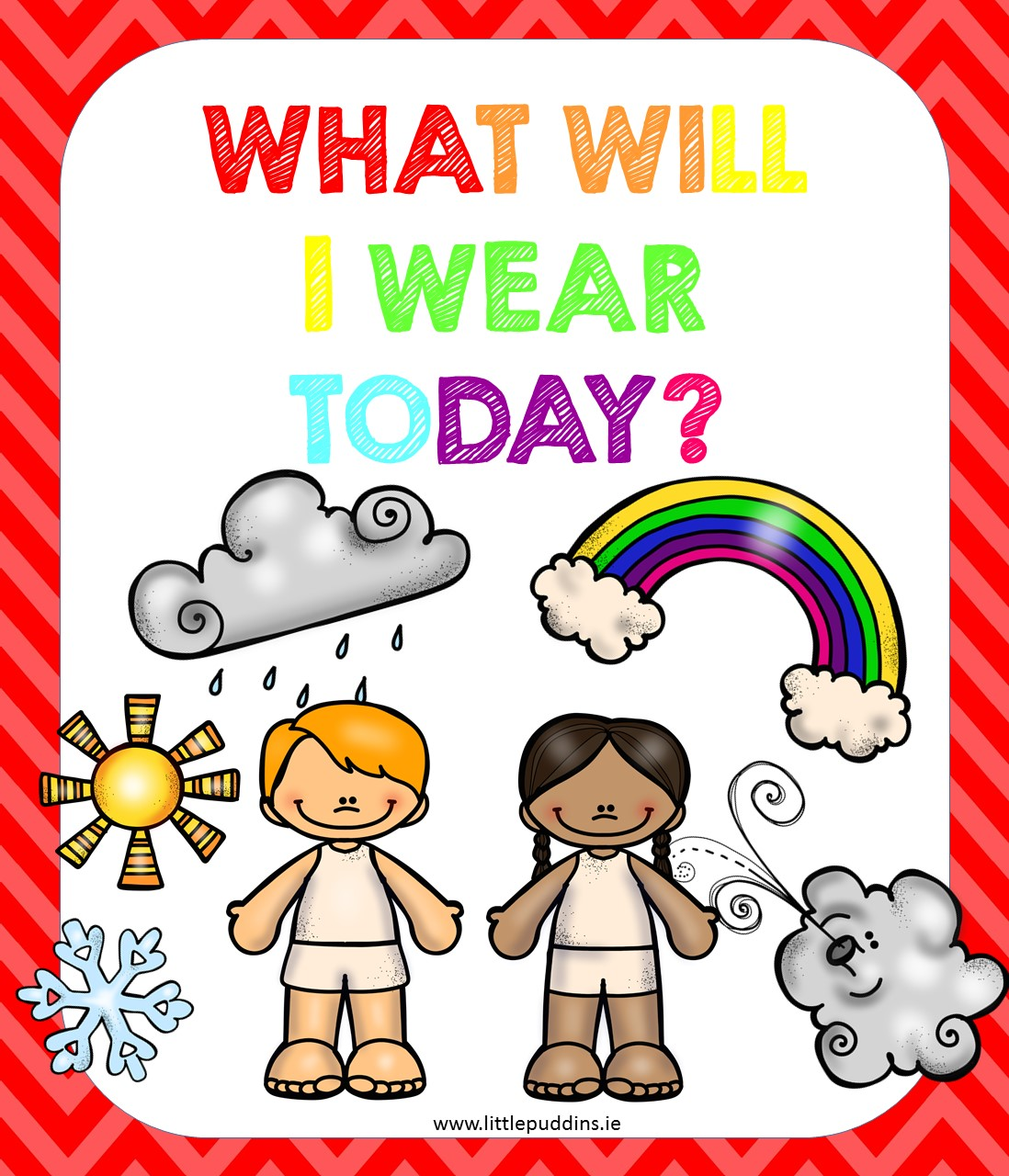 Clothing and the Weather - Little Puddins Free Printables