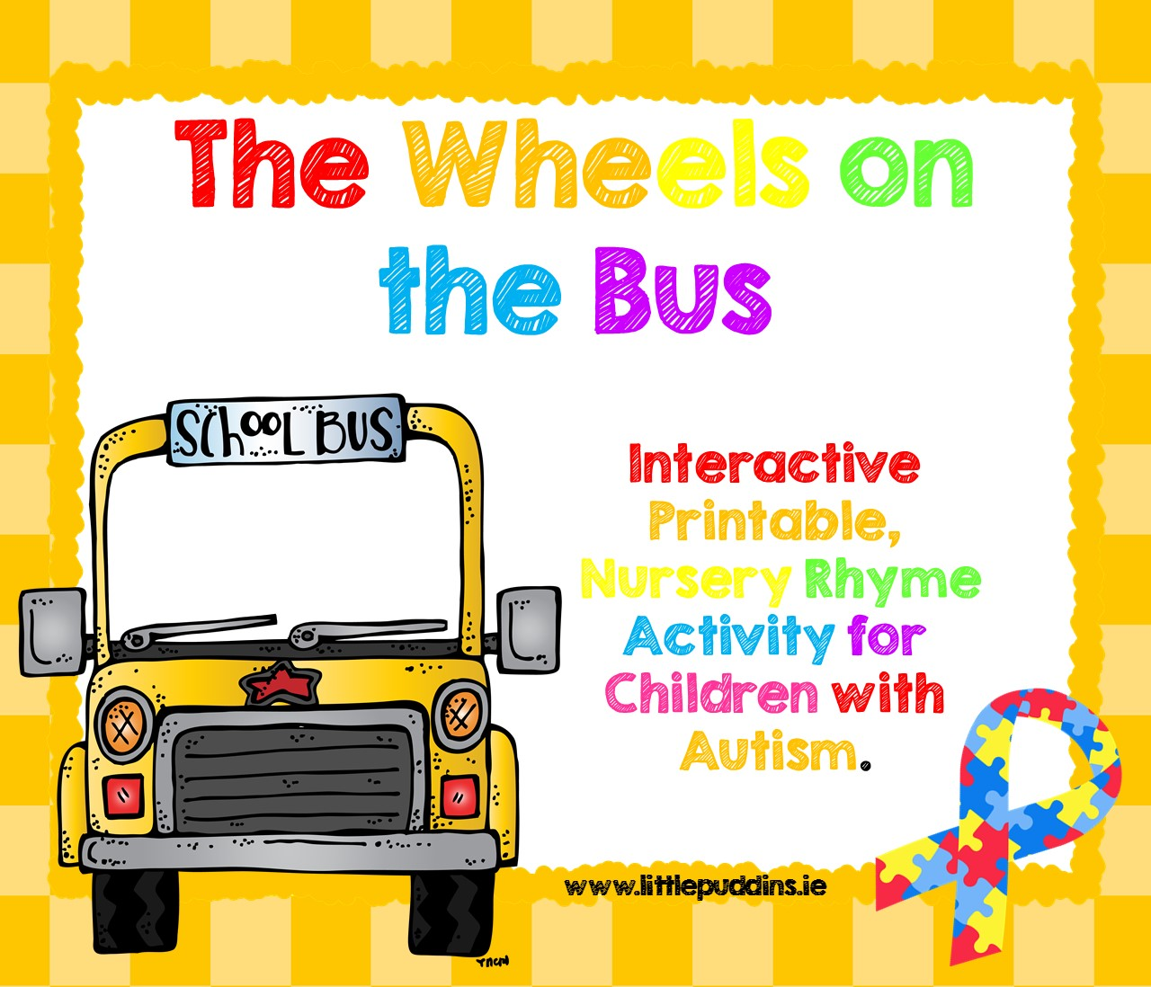 The wheels on the bus go round and round printable