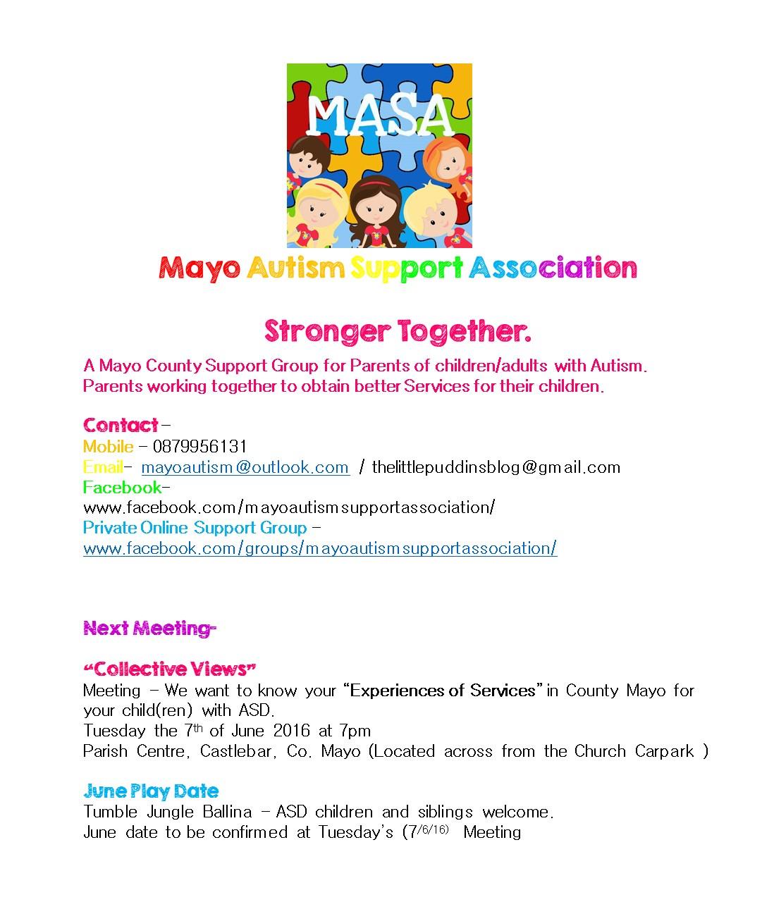 MASA Mayo Meeting