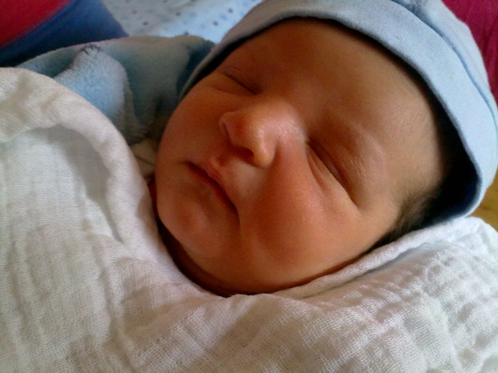 Conor on the day he was born.x