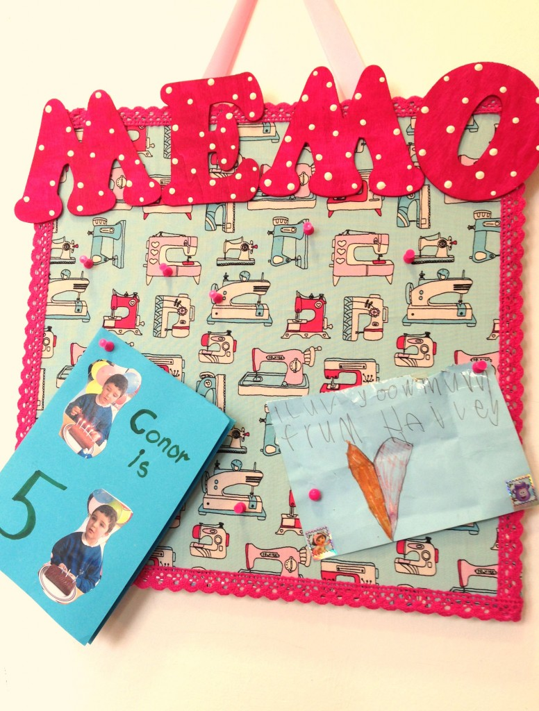Finished Memo Board, a perfect gift for a lovely friend.x