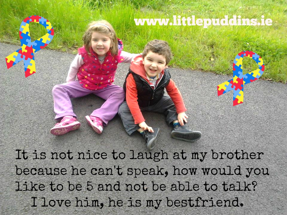 When children laughed at Conor for not being able to speak, Hailey spoke up for her brother.xxx