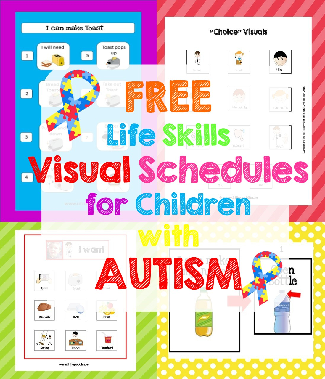 picture regarding Visual Schedule Printable named Cost-free Existence Competencies Printable Very little Puddins No cost Printables