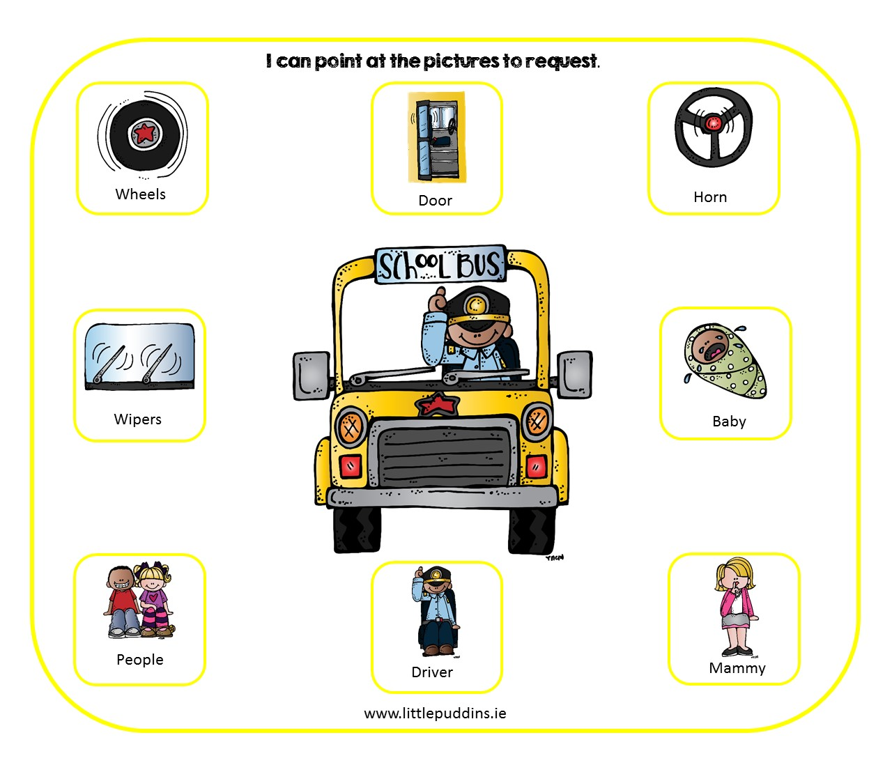 graphic about Bus Printable referred to as Wheels upon the Bus Cost-free Printable Very little Puddins