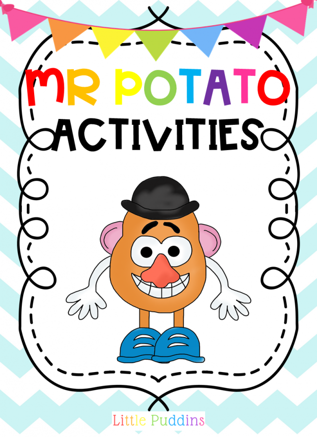 photo regarding Mr Potato Head Printable named Mr Potato Thoughts No cost Printable Very little Puddins Absolutely free Printables