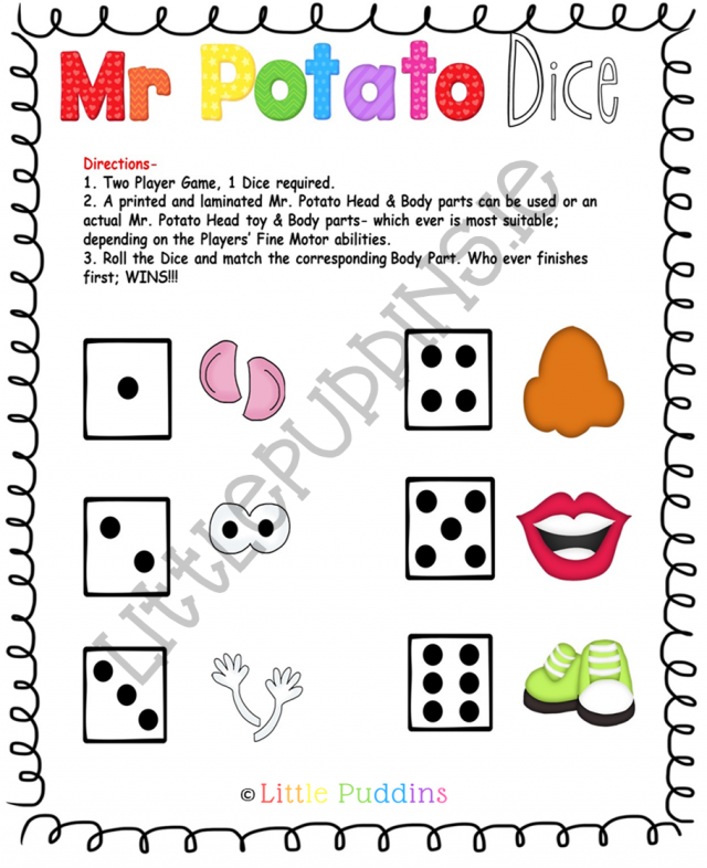 photo about Mr Potato Head Printable Parts titled Mr Potato Thoughts Cost-free Printable Tiny Puddins Cost-free Printables