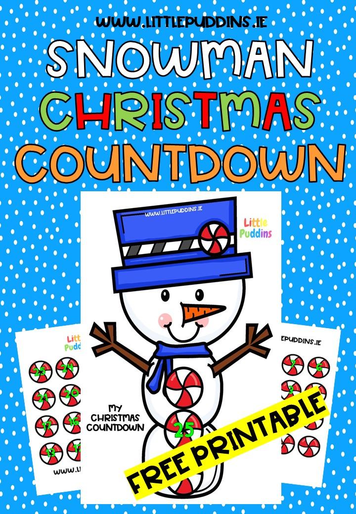 FREE PRINTABLE Snowman Countdown