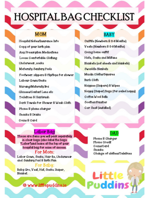 Hospital Bag Check List Free Printable
