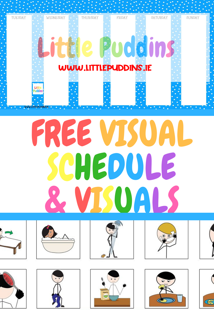 image about Printable Visual Schedule Pictures identified as Totally free Printable Each day Visible Program Very little Puddins