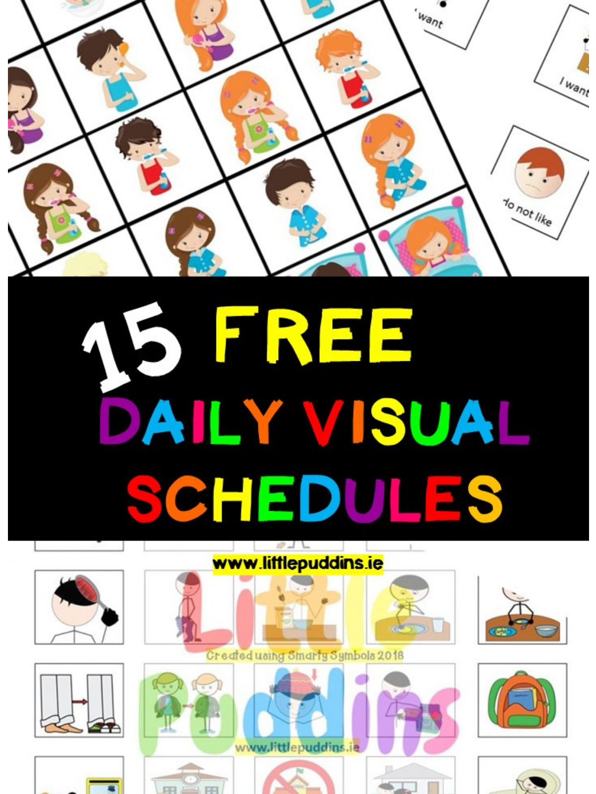 graphic about Printable Visual Schedule Pictures titled Free of charge Visible Schedules Small Puddins Cost-free Printables
